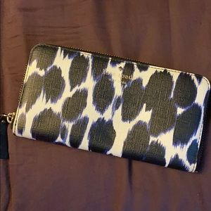 Kate spade blue and white wallet